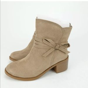 Nine West Girls Cyndees Mid Ankle Zipper Boots